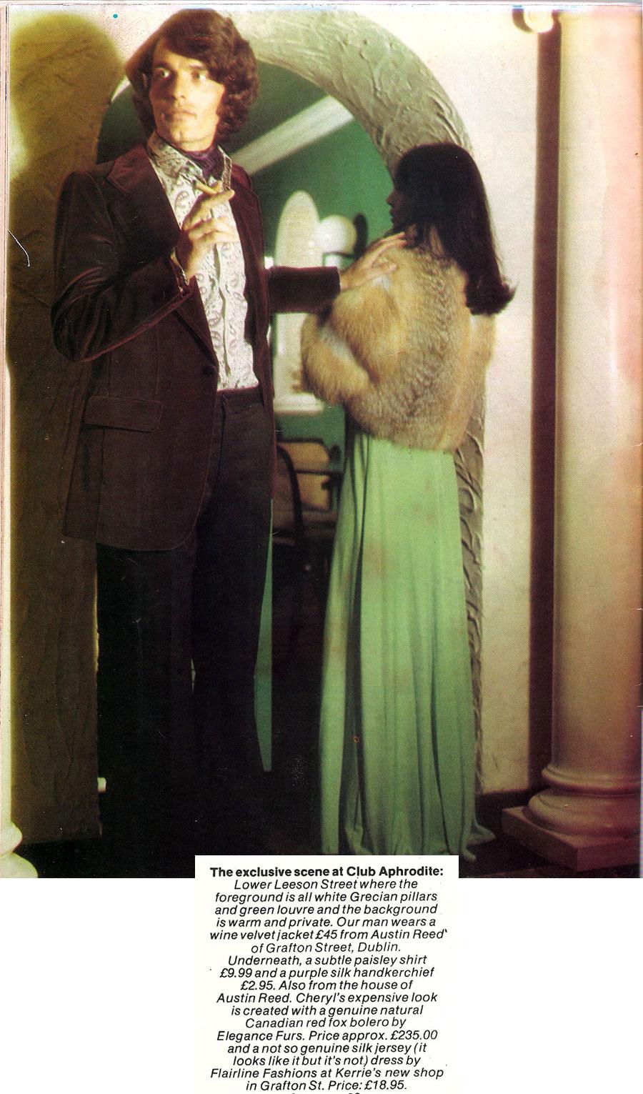 fashion aprhodite nightclub leeson st dublin 1974