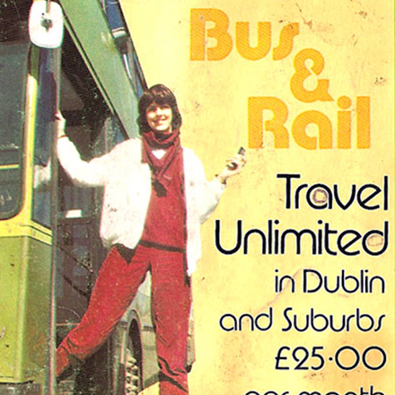 Old Adverts #35 –  Integrated Bus & Rail Ticket – Dublin 1980's