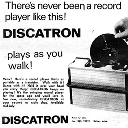 Old Adverts #38 – Discatron, 1966
