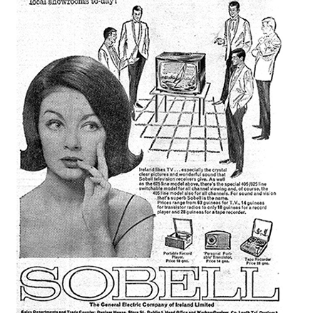 Old Adverts #56 – Sobell – Irish TV Receiver 1963