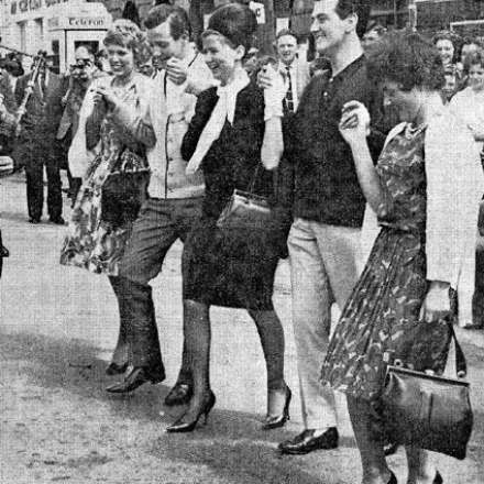 Dancing on the Streets in Gorey - June 1962