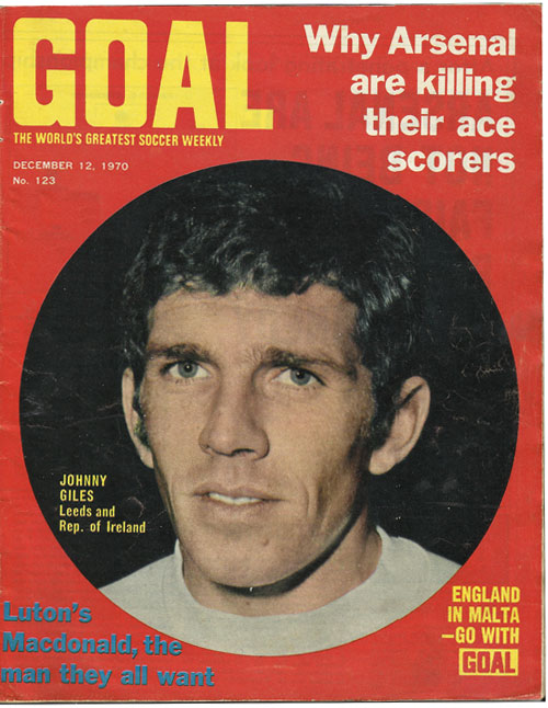 Goal Magazine – 1970  and Johhny Giles
