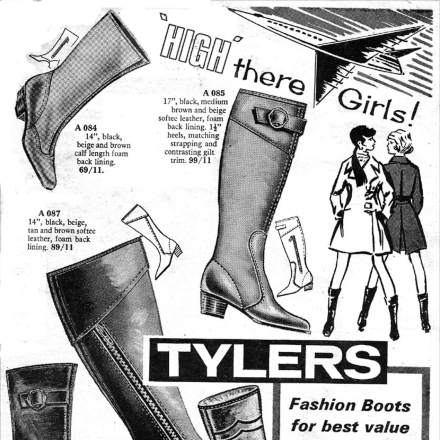 Old Adverts #77  -  Tylers Boots - 1969