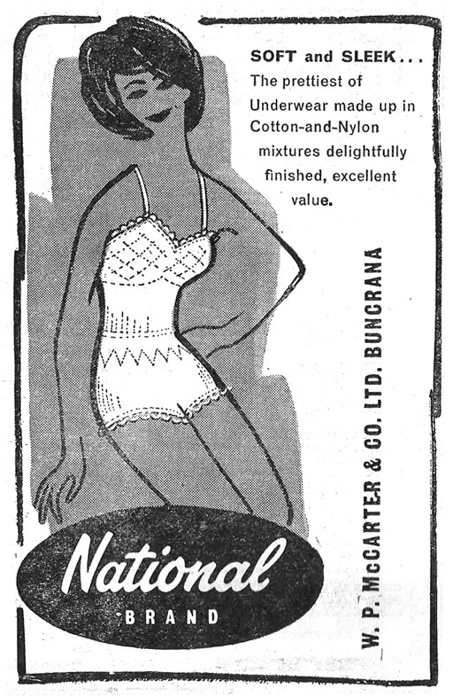 National Brand, McCarter, Buncranna, 1962