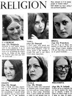 Religion – Vox Pop – Ireland 1970