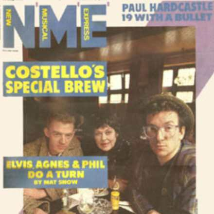 Phil Chevron, Elvis Costello & Agnes Bernelle – NME 1985