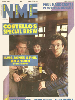 Phil Chevron, Elvis Costello & Agnes Bernelle - NME 1985
