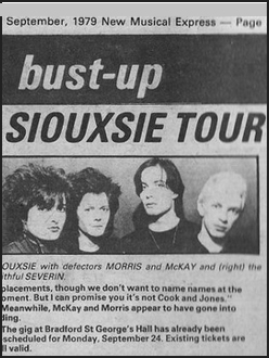 Siouxsie & the Banshees & the Cure - 5 Sep, 1979 - Ulster Hall, Belfast