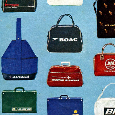 17 Airline Overnight Bags including Aer Lingus – 1967