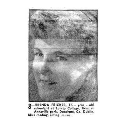 Sunday Review Newspaper - TV Contest, 1961 with Brenda Fricker