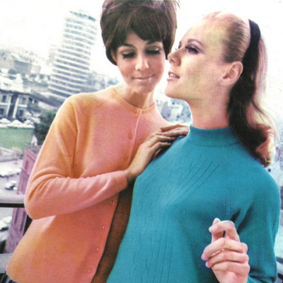 1967 Irish Fashion Advert -  Photo from top of Busaras, Dublin