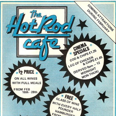 Old Adverts #47 - Hot Rod Cafe, Dublin 1, Feb 1981