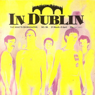In Dublin Magazine Covers – 6 from the early 80s