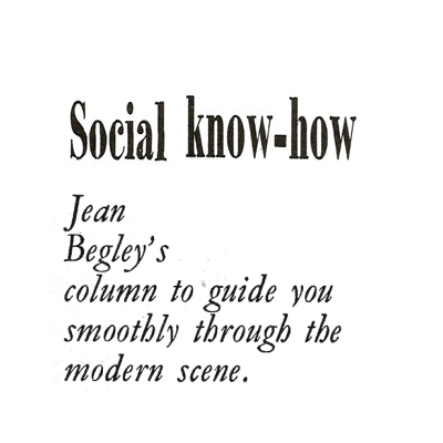 6 More Social Know-How Tips- Jan 1971