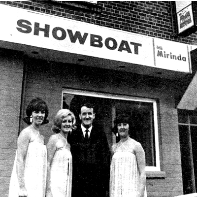 The Showboat, Malahide, Dublin 1968 with Albert Reynolds