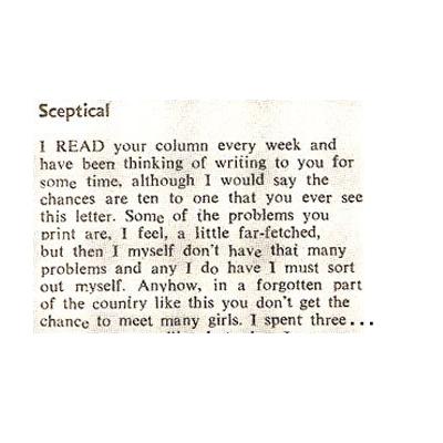 Sceptical – 1971
