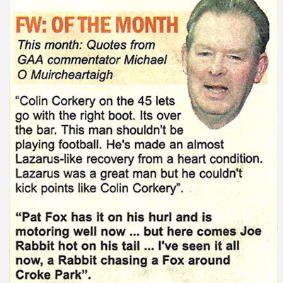 GAA Commentator Quotes - The Slate Magazine, 2001