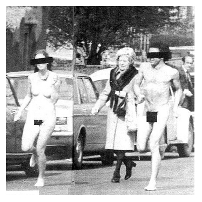 Streaking in Ballsbridge, Dublin 4, 1974
