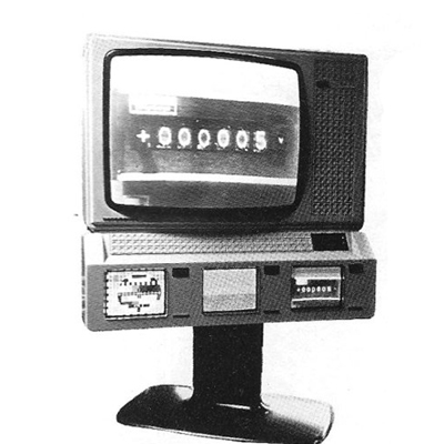 TV with 4 Screens in Switzers, December 1979