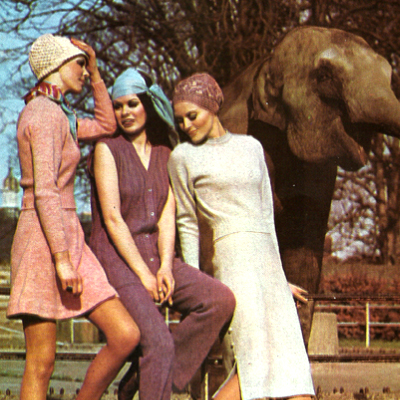 Autumn Fashion Shoot at Dublin Zoo 1970