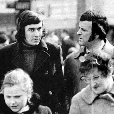Terry Wogan with Donal Corvin, Dublin 1970