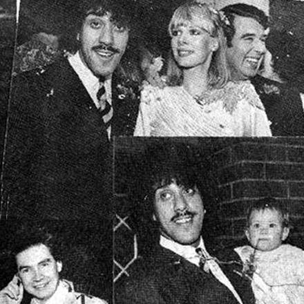 Phil Lynott marries Caroline Crowther, Feb, 1980.