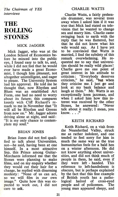 rolling stones interview 1965 dublin