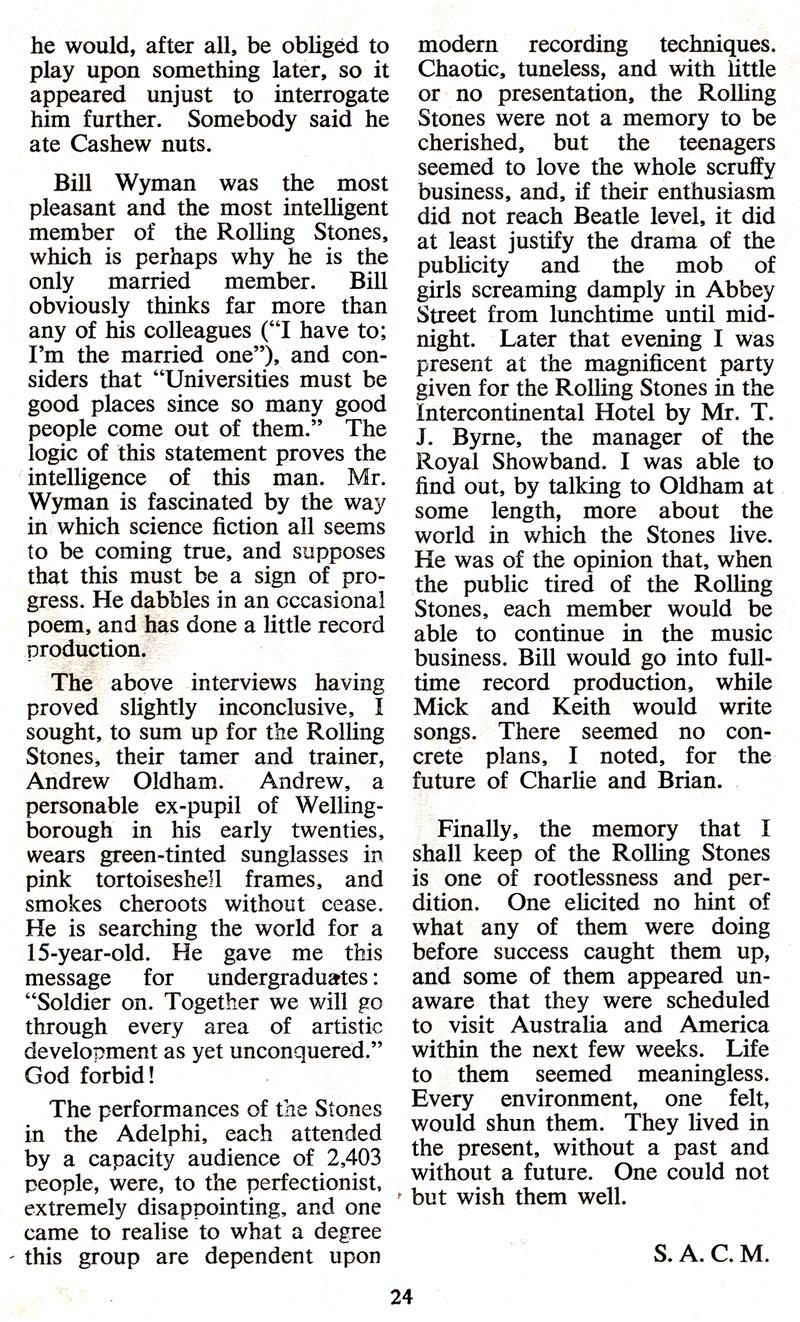 rolling stones interview dublin simon morgan 1965