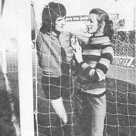 1970 Fashion shoot at Dalymount Park, Dublin 7