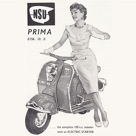 8 Irish Adverts for Scooters, Mopeds and Motor Cycles 1956