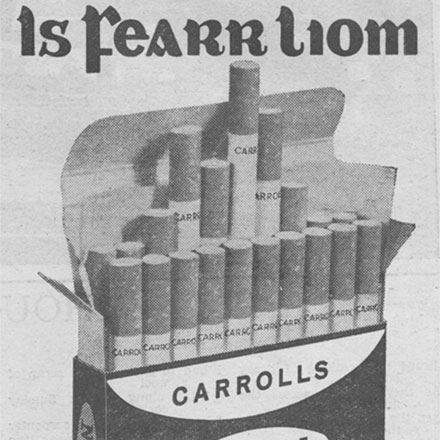 Two Irish Cigarette Adverts from 1959