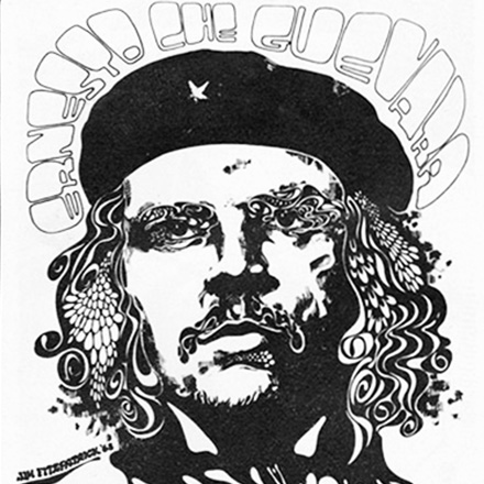 Advert for first Che Guevara Poster by Jim Fitzpatrick –  1968