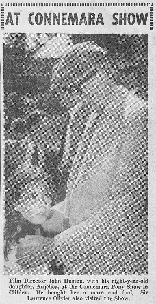 anjelica-huston and john-huston-1959-ireland