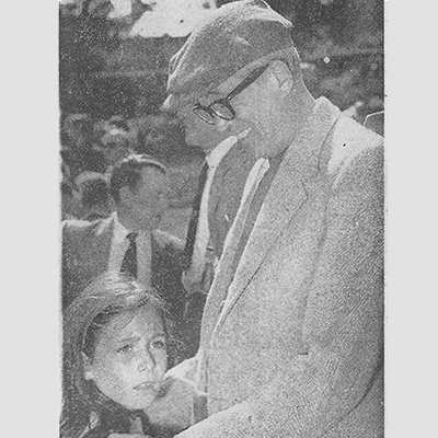 John & Anjelica Huston at Connemara Pony Show 1959