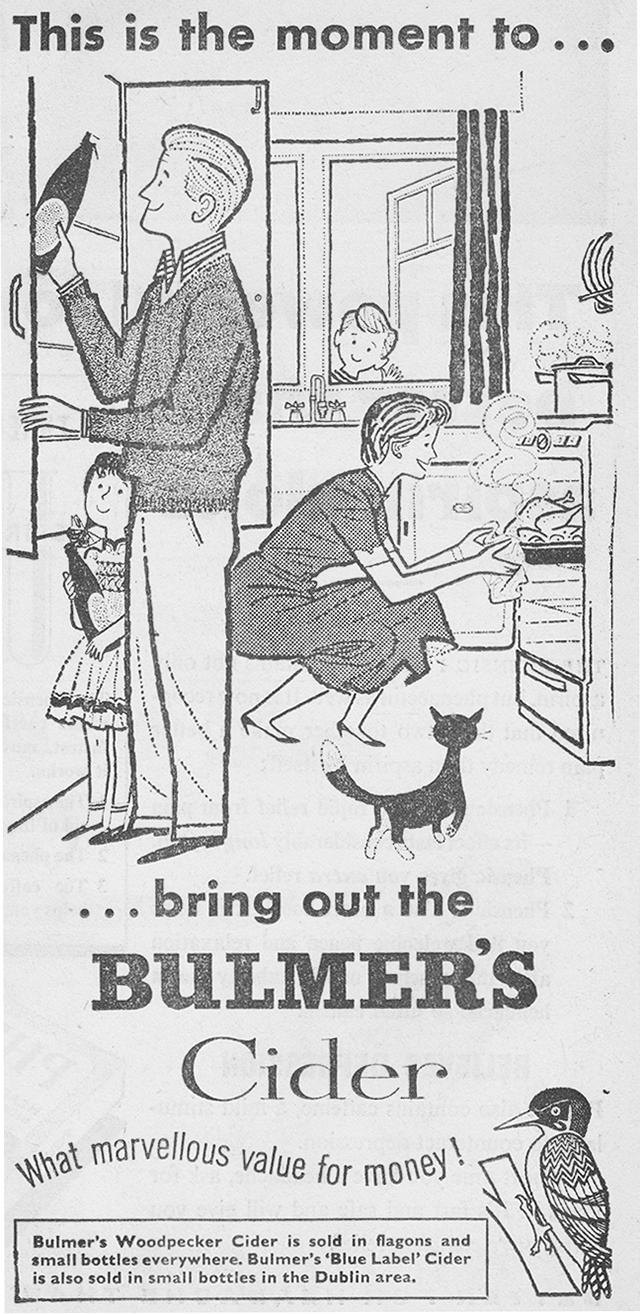 Bulmers-cider-advert-1958-irish-press