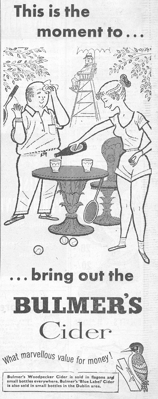 Bulmers-cider-advert-1958-Sunday-press