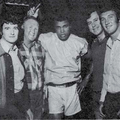 Muhammed Ali with Brendan Bowyer and Big 8 1972