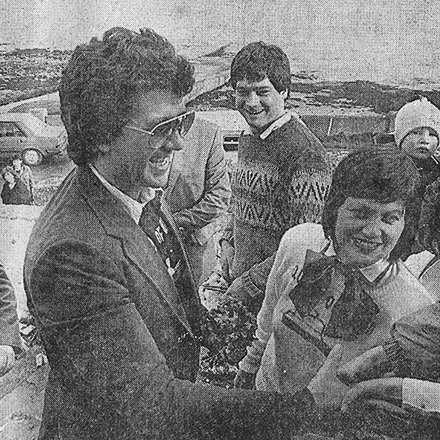 Dallas Star Patrick Duffy at Aran Islands 1986