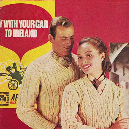 5 Irish Wool Knitting Patterns from early 1960s