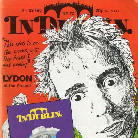 John Lydon and Dark Space at the Project Arts Centre -  In Dublin Feb 1979